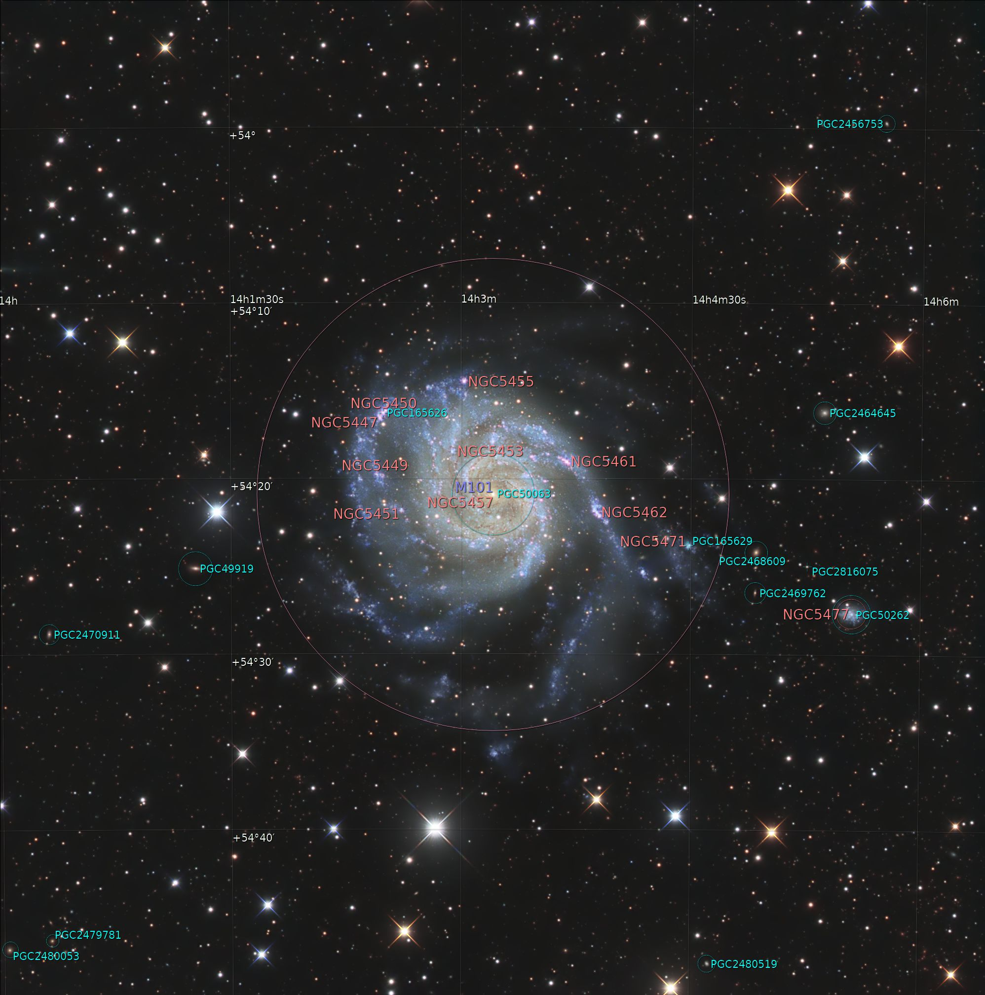 M 101 Annotated